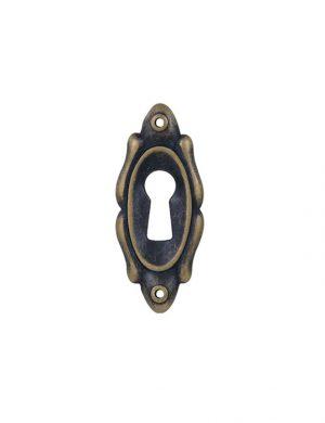Sild oval cu finisaj din alama sau bronz.