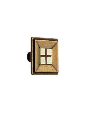 Buton pentru mobilier, finisat cu auriu antichizat.